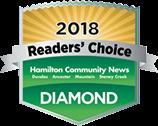 Hamilton dental clinic awarded with the prestigious Reader's choice award 2018