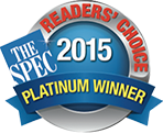 Hamilton dental clinic with the awarded prestigious Reader's choice platinum winner award 2015