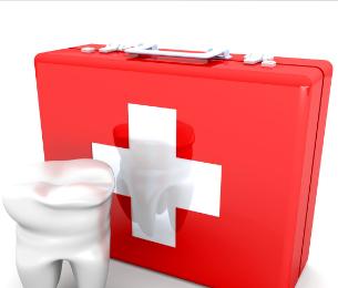 Dental first aid kit at a dental clinic in hamilton